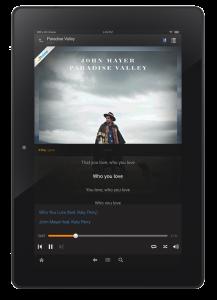 amazon music kindle testi canzoni